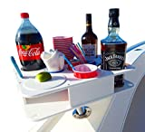 Docktail Fully Custom Boat Cup and Bottle Holder Bar Plus Magma Levelock All Angle Adjustable Rod Holder Mount for Center Console, Pontoon, Sportfishing, Cruisers, Tenders, Motor Yachts and Sailboats
