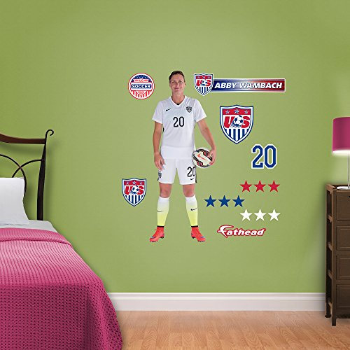 World Cup Soccer United States Abby Wambach Junior Wall Decal