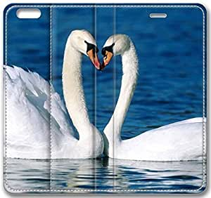 Animals Two White Swans On The Water Case for iPhone 6 Plus 5.5 inch(Compatible with Verizon,AT&T,Sprint,T-mobile,Unlocked,Internatinal) in GUO Shop