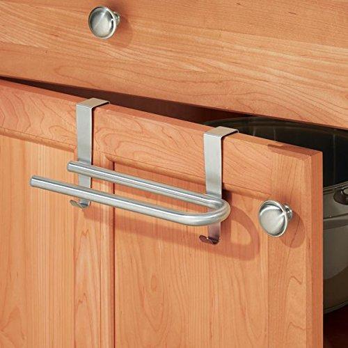 mDesign portasalviette senza montaggio - ideale per asciugamani e salviette - per bagno e cucina - acciaio MetroDecor 0685MDK