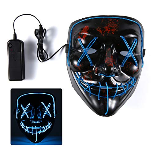 Gotega LED Mask/Halloween Mask/Costume Party Mask for Halloween Party, Christmas, Carnival. (Light -