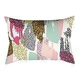 Pgojuni Rectangle Merry Christmas Pillow Case Sofa Waist Linen Blend Pillow Cover Cushion Cover Home Decor 1pc 30cmx50cm (D)