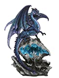 Checkmate Dragon with LED Light Frozen Blue Crystal Mountain 12.5H