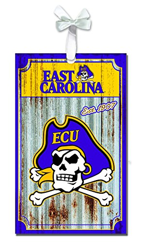 Team Sports America East Carolina Pirates Corrugated Metal Ornament