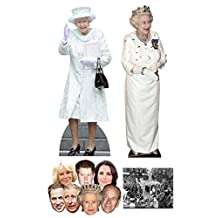 "Queen Elizabeth II 90th Birthday Commemorative Pack B - includes 2 x Cardboard Cutouts, 7 x Masks and 8x10"" Photo"