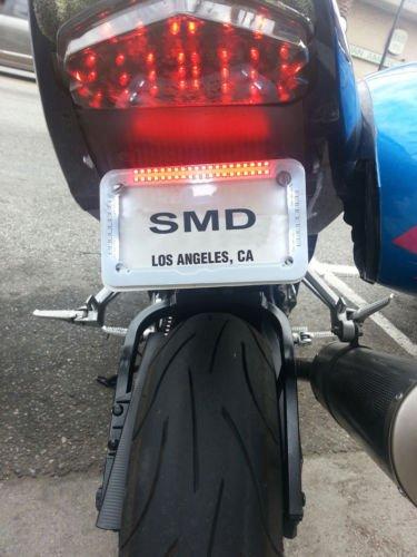 "Motocicleta licencia Plate Frame con LED luces Harley Davidson Chopper Triunfo """