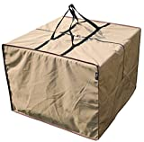 SORARA Rectangular Cushion Cover Storage Bag Outdoor Protective Zippered Patio Furniture Cover, Water Resistant, 32''L x 32''W x 24''H