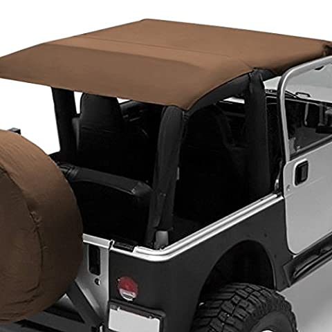 2004-2006 Jeep Wrangler Rubicon Smittybilt Spice Colored Soft Top Outback Extended Bikini Top - 90104 Windshield