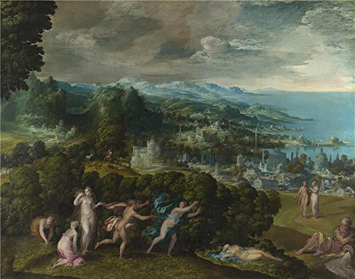 Oil Painting 'Niccolo Dell'Abate The Death Of Eurydice ' Printing On High Quality Polyster Canvas , 18 X 23 Inch / 46 X 58 Cm ,the Best Laundry Room Decor And Home Decoration And Gifts Is This High Definition Art Decorative Canvas Prints
