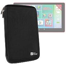 Coque étui rigide en noir pour Lexibook LEXITAB MFC511FR tablette enfant 10 pouces - tablette tactile - résistant à l'eau - DURAGADGET