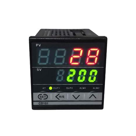 Controlador de temperatura de pantalla dual PID digital ...
