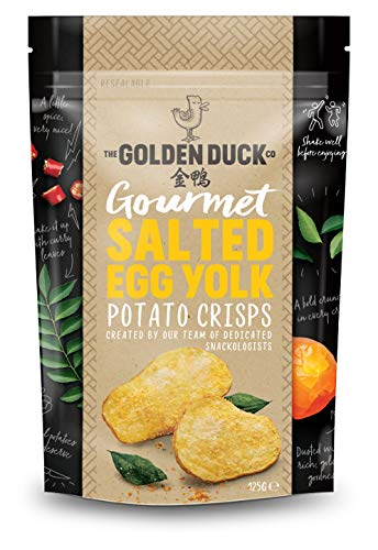 (THE GOLDEN DUCK GOURMET SALTED EGG YOLK POTATO CRISPS 125g)