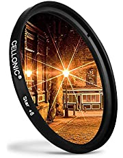 CELLONIC® Filtre Étoile 8 Pt Compatible avec Canon Ø 82mm (8 Point) Star Filter, Cross Filter