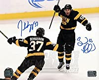 Patrice Bergeron Brad Marchand Boston Bruins Signed Autograph Celebration 16x20