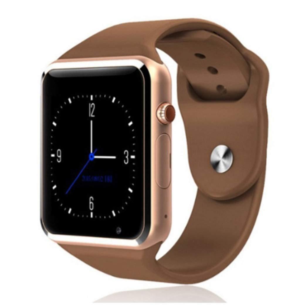 Smart Watch Sport Smart Wrist Watch Bluetooth Smartwatch with Sleep Monitoring Call Message Reminder Anti Lost Fitness Tracker (Coffee)