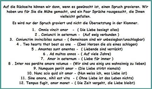Liebesschloss Herz in SILBER mit Gravur Gro/ß 60x45 mm Vorh/ängeschloss mit Geschenkbeutel