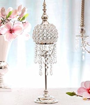 Peiwenin Amerikanischen Stil Kristall Silber Kerze Halter