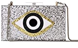 Sequin Silver Acrylic Clutch Bags Glitter Purse Perspex Bag Evening Handbags for Women (Sliver-eye)