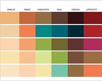 Make Up Pass Farbpass Herbsttyp 30 Farben Make Up Farbkarte