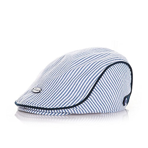 Cute Kids Baby Infant Boy Girl Beret Stripe Cap Baseball Pea