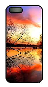 iPhone 5 5S Case Landscapes sunset PC Custom iPhone 5 5S Case Cover Black