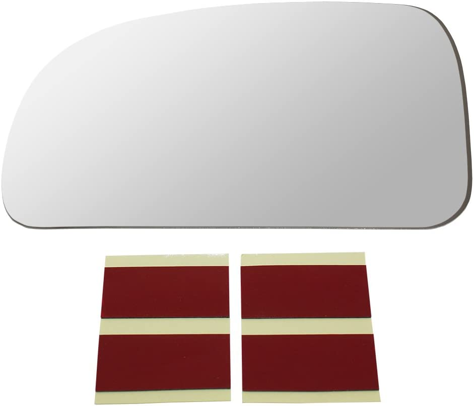 Drivers Side View Mirror Glass w//Adhesive Strips Replacement for Ascender Bravada Envoy 9-7X Rainier Trailblazer GM1324139