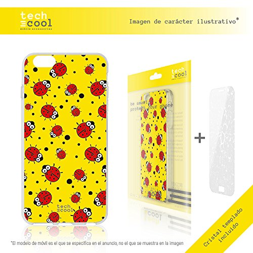 Iphone 7 Coque, Funnytech® Housse premium Souple TPU Silicone pour Iphone 7 + Verre trempe l [couleurs très vives] [Design exclusif, Impression haute définition] [1.5mm] [Antichoc] [Souple] [9H, Ultra