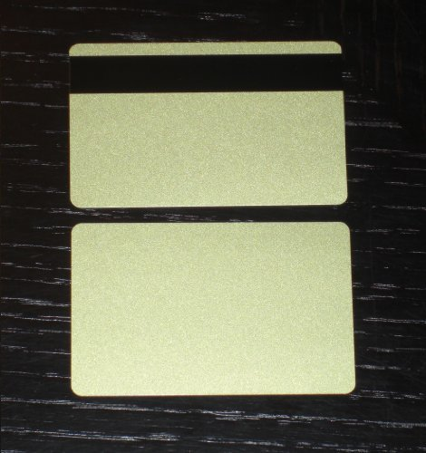 500 CR80 30Mil Gold PVC Plastic Credit, Gift, Photo ID Cards With LoCo Magnetic Stripe (Loco Mag Stripe)
