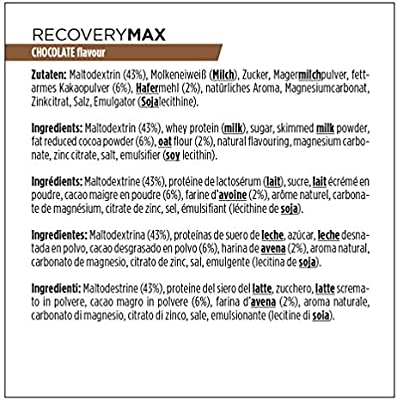 Powerbar Recovery Max Chocolate Bebida de Proteínas Whey e Hidratos de Carbono - 1144 gr
