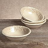 GG Collection Ceramic Round Salad Bowls (4)