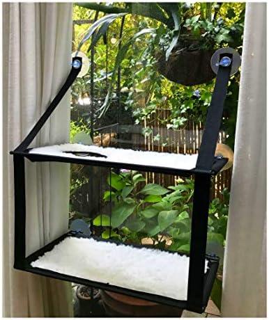 Nala - Hamaca para ventana de gato, de doble pila, con ventosa, para gato, para gato, reposo, suave esterilla 2