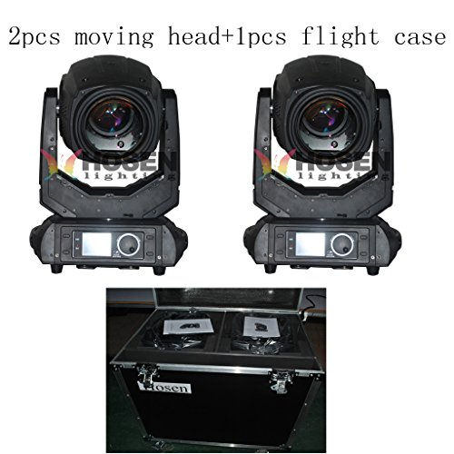 Hosenlighting 2PCS +1 flight case 10R 280W beam spot wash 3in1 moving head light