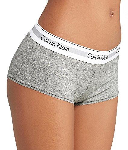 Calvin Klein Modern Cotton Boyshort, S, Grey Heather
