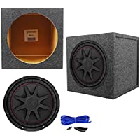Kicker 43CVR122 COMPVR 12 800 Watt Car Audio Subwoofer+Sealed Sub Box Enclosure