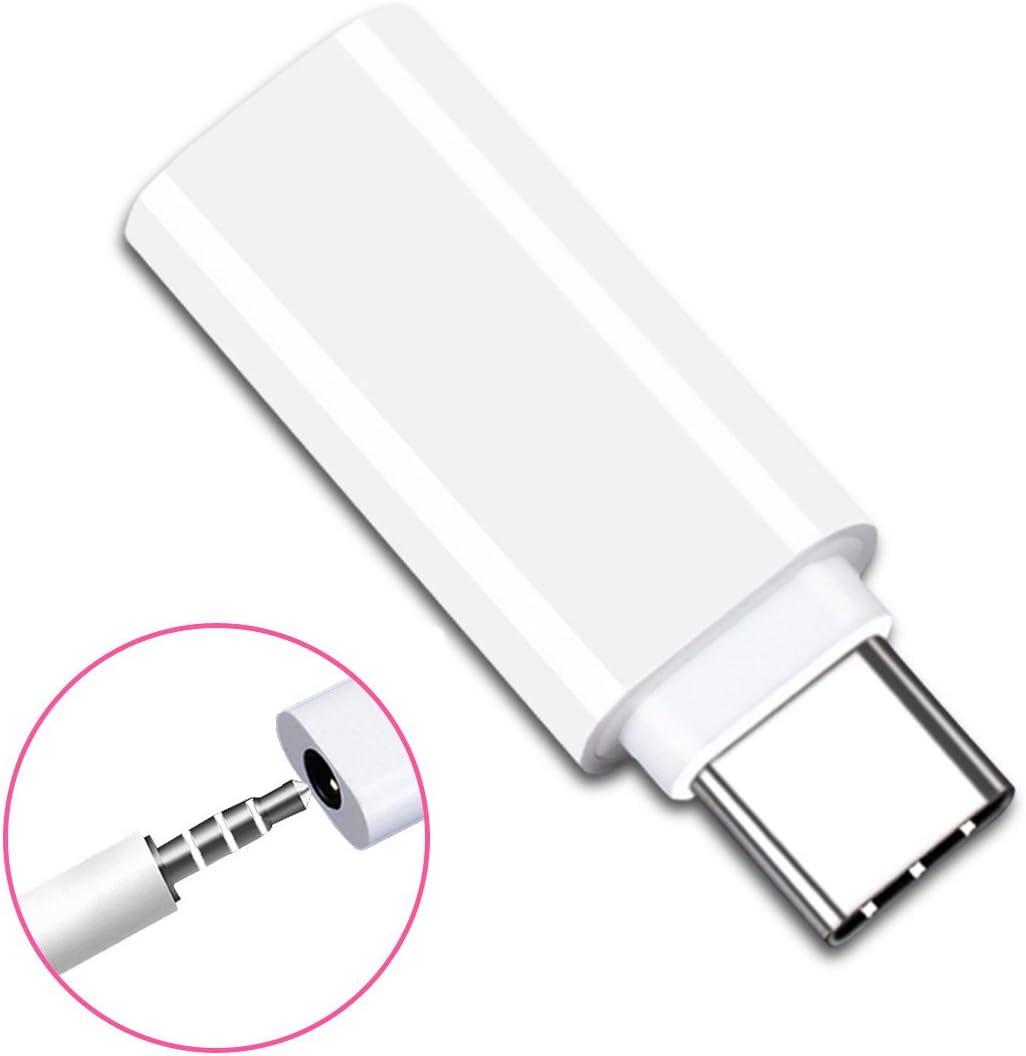 Cablecc - Adaptador de Auriculares USB-C 3.1 Macho a AUX Hembra de Audio para Xiaomi 6 Mi6 Letv 2 Pro 2 Max2 de Tipo C a 3,5 mm