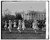 Vintography 8 x 10 Reprinted Old Photo Girl Scouts, May Pole Dance at White House, 4/1/29 1929 National Photo Co 92a