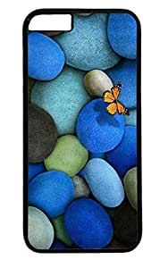 Beautiful Blue Stone and Butterfly Thanksgiving Easter PC Black Case for Masterpiece Limited Design iphone 6 by Cases & Mousepads