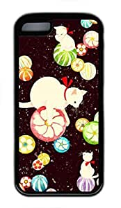Lovely Soft Black TPU Case Shell for iPhone 5C,Lovely Cat Pattern Case for iPhone 5C