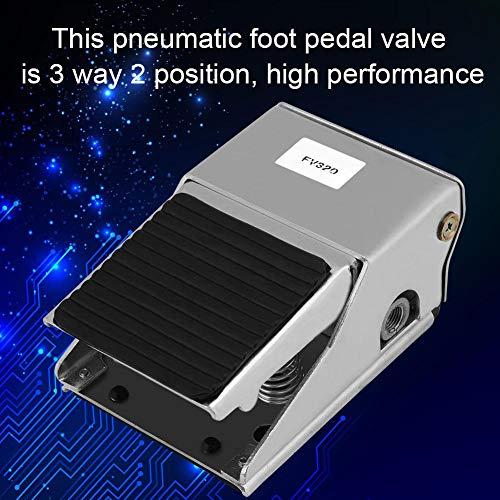 G1//4 2 posizioni 5 vie comando pneumatico pressa a pedale valvola a pedale in lega di alluminio parti pneumatiche valvola a pedale pneumatica Valvola a pedale pneumatica