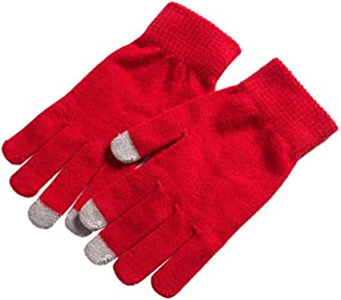 Lannister Fashion Mujeres Hombres Guantes De Invierno Warme Smartphone Tablet Full Finger Mittens (Color : Rot, Size : One Size): Amazon.es: Ropa y accesorios