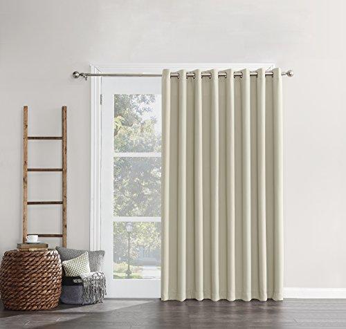 Sun Zero Easton Extra Wide Blackout Energy Efficient Sliding Curtain Panel, 100