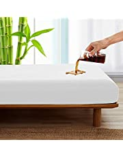 SPRINGSPIRIT 100% Waterproof Mattress Protector Queen Size Hypoallergenic Bed Mattress Cover, Ultra Breathable Cooling Premium Bamboo Vinyl Free TPU Noiseless Queen Mattress Protector Fitted up to 18'' Depth Pocket (60x 80inch)
