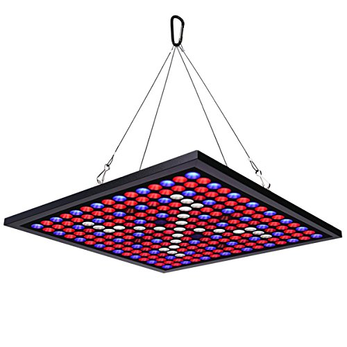 KINGBO 45W LED Plant Grow Light Panel Full Spectrum Reflector 225 LEDs 6-Band Includ UV IR with Switch for Indoor Plants Seeding & Growing & Flowering by KINGBO