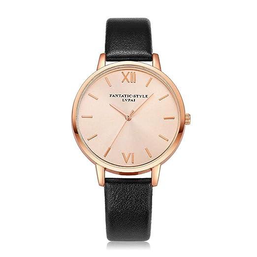 Hot Sal.firally Relojes de Mujer Relojes de Pulsera de Mujer con Reloj de Pulsera de Cuarzo Relojes wristwatches Relojes de Pulsera de Mujer Negro: ...