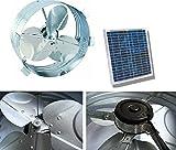 Brightwatts Premium Galvanized Steel Rust Prevention and High Efficiency Blades Solar Gable Attic Fan, Brushless DC Motor, Black Frame Solar Panel, RV, Green House,