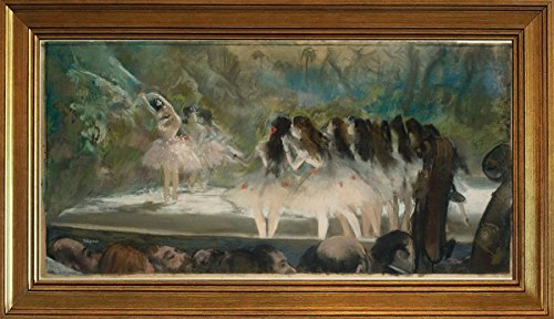 Berkin Arts Classic Framed Edgar Degas Giclee Canvas Print Paintings Poster Reproduction (Ballet at the Paris Opera 2) (Degas Ballet Bag)