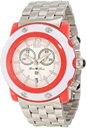 Glam Rock Women's GD1112 Miami Beach Chronograph White Dial Stainless Steel Watch