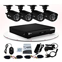 XVIM 8CH 960H Security System with 4PCS Weatherproof 800TVL IR Cut CCTV Camera System, 65ft Night Vision HDD Not included