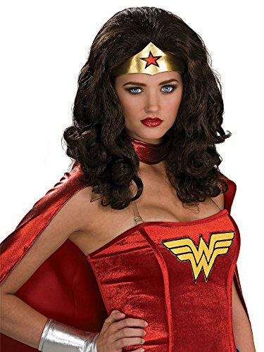 Secret Wishes  Wonder Woman Wig, Black, One Size -