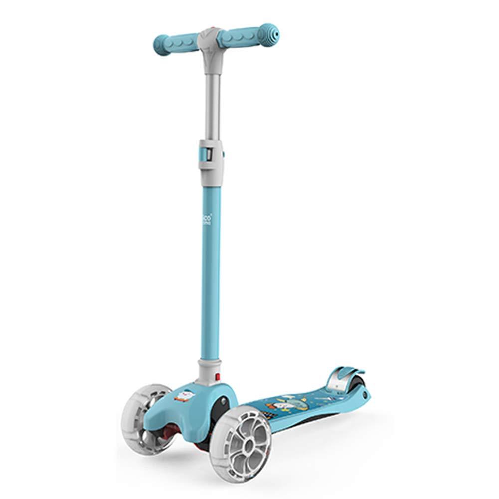 Blau CDREAM Kinderscooter Dreirad Mit Verstellbarem Lenker Kinderroller Roller Scooter Blinken Für Kinder Ab 2-12 Jahren Bis 50kg Belastbar